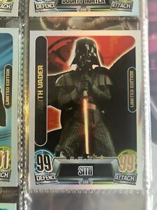 2013 Star Wars Force Movie Attax Series 2 Limited Edition LE2 Darth Vader Sith