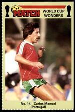 Match World Cup Wonders 1986 - Carlos Manuel (Portugal) No. 14