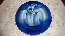 Antico ROYAL DOULTON bordo a balze Blu Bambini Piastra Muro-scena estiva