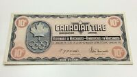 1976 Canadian Tire 10 Ten Cents CTC-S5-C Circulated Money Olympic Banknote D210