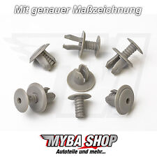 10x TÜRVERKLEIDUNG CLIPS KLIPS VW TRANSPORTER T4 & T5 HELLGRAU 70186729901C