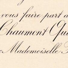 Louis Joseph Eugène De Chaumont Quitry Paris 1887 Henriette Michel