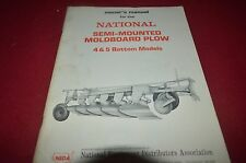 National Semi-Mounted Plow 4 & 5 Bottom Plow Operator's Manual DCPA6