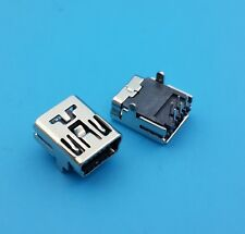 2X CONNETTORE MINI USB B femmina 5 poli 90° pcb smd connector mini jack F pin