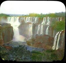 Iguassu San Martin Falls in Argentina   MAGIC LANTERN GLASS SLIDE