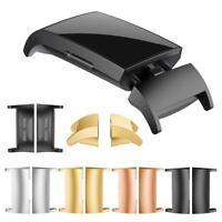 2pcs Edelstahl Uhr Armbänder Strap Adapter Stecker Ersatz Für Fitbit Charge 3