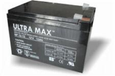 Paire de Ultramax 12V 12Ah batterie scooter Mobilité - Pride, Days, INVACARE etc