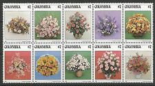 COLOMBIA. 1982. Country Flowers Set. SG: 1649a. Mint Never Hinged.