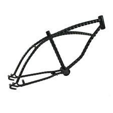 "Black 20"" Twisted Bicycle Frame Lowrider Cruiser Bikes"