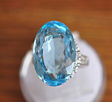 23.37ct Oval Cut Genuine (Natural) Swiss Blue Topaz Loose Stone gemstone