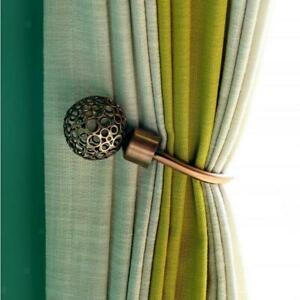 2 Pcs Retro Style Hollowed-Out Decorative Curtain Tieback Hook Home Decoration