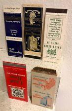 Hotel Matchbook Covers: Lenox-Harrington-Carlton-Edison-Devon
