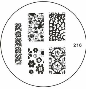 MoYou Nails Image Plate 216 Nail Art Stamping Template  Manicure Stencil Plates