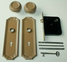 Vintage Yale Front Entry Door Mortise Lock w/ Handles Plates & Key