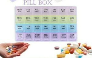 Weekly Daily Pill Box Organiser Medicine Tablet Storage Dispenser 7 Day 4 Times