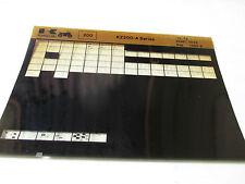Kawasaki KZ200 - A Series Parts List Micro Fiche
