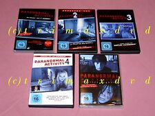 5 DVD's _ Paranormal Activity 1-4 & Paranormal Activity Tokyo Night _TOP-Zustand