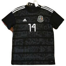 2019 Mexico Home Jersey #14 Chicharito Large Gold Cup Football Soccer NEW