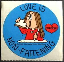 Vintage 80s Stickers - Cathy Cartoon - Mint Condition!!
