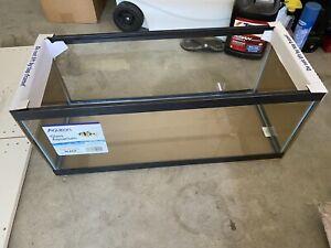Aqueon Standard Glass 20 Gallon Long Aquarium Tank, Black Trim