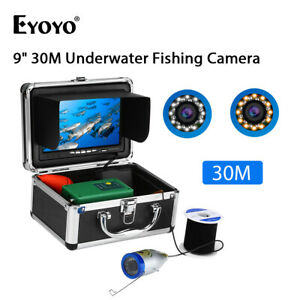 "30M Underwater Fish Finder CMOS Sensor 9"" LCD Monitor Fishing Camera For Ocean"