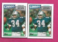 2 X 1987 TOPPS # 264 COWBOYS HERSCHEL WALKER ROOKIE NRMT-MT CARD (INV# C4184)