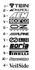 11 Car Sponsor Decal Pack! JDM Racing Sticker Vinyl Windshield Window