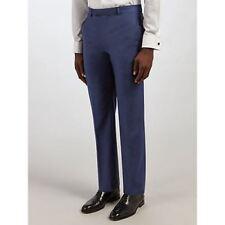Daniel Hechter Sharkskin Tailored Suit Trousers, Indigo SIZE 36L BNWT RRP £95