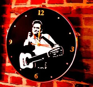 JOHNNY CASH  - *UPCYCLED* DRUM CLOCK