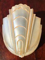 Antique Art Deco Champagne Amber Glass Slip Shade for Chandelier
