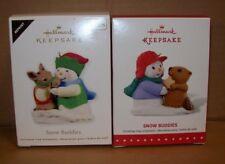 HALLMARK KEEPSAKE CHRISTMAS TREE ORNAMENTS SNOW BUDDIES SERIES NEW IN BOX