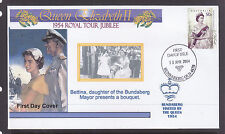"SOUVENIR COVER:  2004,, THE ROYAL TOUR JUBILEE OF 1954, VISITED ""BUNDABERG"""