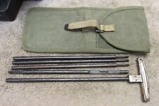 US WW2 POST WAR BROWNING M2 50 CAL CLEANING ROD AND POUCH M15 SET MA DEUCE BMG