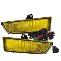 Fit 97-01 Honda Prelude Front Bumper Fog Light Yellow Bulbs Wiring+Switch