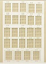 te-minatur 6312 Lasercut Fenstersatz 2 weiß (Spur H0)