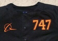 BOEING 747 BASEBALL SEWN JERSEY YOUTH M (10/12) POLYESTER SHIP TO WORLDWIDE!!!
