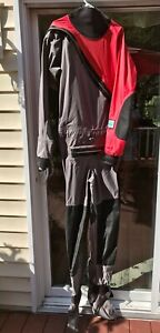 Men's Kokatat Paddling Drysuit Super Nova Radish/Gray Large Swift Entry Relief