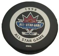 1998 ALL STAR GAME PUCK VANCOUVER NHL GARY B. BETTMAN INGLASCO VINTAGE 🇨🇦 RARE