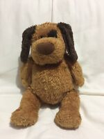 """MICHAEL'S Pot Belly Puppy Dog 10"""" Sitting Brown Plush Lovey"""