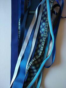 Blues Ribbon Bundle - 15 x Generous Metres  Assorted Widths & Types - NEW