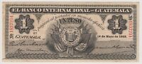 Guatemala 1 Peso 1923 PS153b VF Banco Internacional Rare Grade