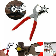 """6 sized 8.5/""""  Revolving Punch Pliers leather hole belt punches ARP-7601"""