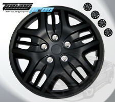 "15"" Inch Matte Black Hubcap Wheel Cover Rim Covers 4pc, Style Code 025 15 Inches"