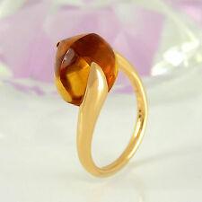 Markenlose Echte Edelstein-Ringe aus Gelbgold mit Cabochon