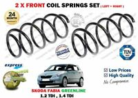 FOR SKODA FABIA GREENLINE 1.2 1.4 TDI 2007 >NEW 2X FRONT COIL SPRINGS SET