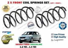 FOR SKODA FABIA GREENLINE 1.2 1.4 TDI 2007-->NEW  2X FRONT COIL SPRINGS SET