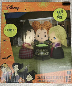Disney Hocus Pocus Sanderson Sisters 4.5 ft Airblown Inflatable READY TO SHIP