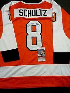 Dave Schultz Philadelphia Flyers Autographed Orange Style Jersey XL coa-JSA+
