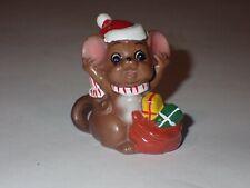New listing Vtg Josef Originals Little Boy Mouse Santa Hat Presents Striped Scarf Figurine