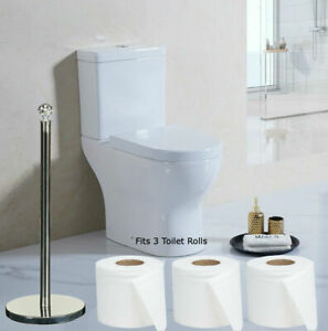 Toilet Roll Holder Chrome Free Standing Toilet Roll Storage Toilet Paper Stand